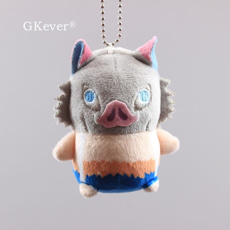 Anime Demon Slayer Inosuk Stuffed Plush Toys Pig Doll Peluche Keychain Pendant 9cm Women Kids Christmas Birthday Gift