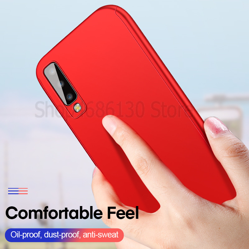 Image 3 - 360 Full Cover Case For Samsung Galaxy A7 A6 A8 A9 J4 J6 J8 Plus 2018 A5 A7 2017 Cases For Samsung A20 A20E A30 A50 A70 A90 Case-in Fitted Cases from Cellphones & Telecommunications