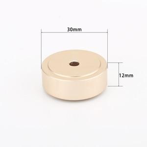 Image 1 - 30 ミリメートル * 12 ミリメートル機械加工フルアルミスピーカーアンプ分離ためコーン減衰足スパイク階のベースパッドスタンドハイファイオーディオ cd ラジオ dac
