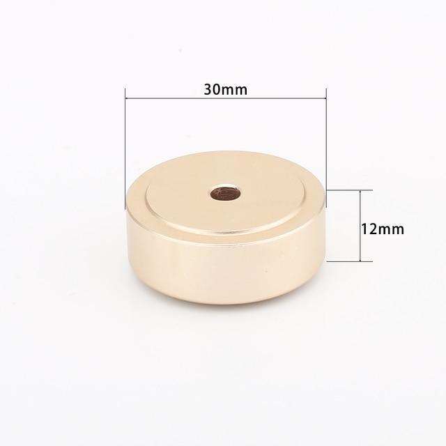 30mm*12mm Machined Full Aluminum Speaker AMP Isolation Foot Spike Floor Base Pad Stand Cone Damp For Hifi Audio CD Radio DAC