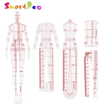 Elementy designu odzieży styl szablon do rysowania linijka Model ciała linijka mody tanie i dobre opinie SmartBao CN (pochodzenie) Fashion Ruler Z tworzywa sztucznego Prosta linijka