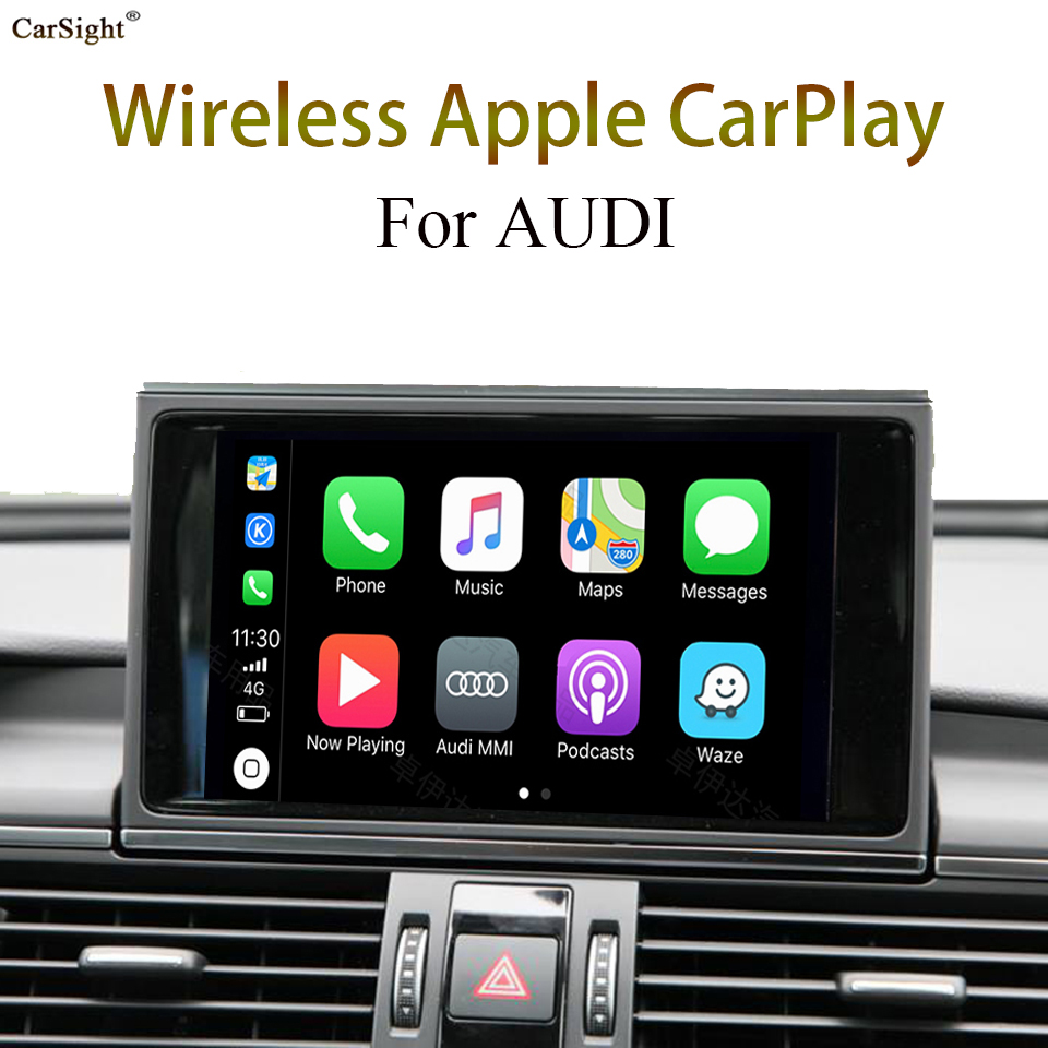 Best Quality WiFi Bluetooth Connection Car Camera Interface Apple CarPlay for AUDI A8 4N 2017 MMI Navigation image