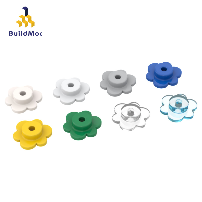 BuildMOC Compatible For Lego56750 Flower Petal Building Blocks Parts DIY LOGO Educational Creatives Gift Toys