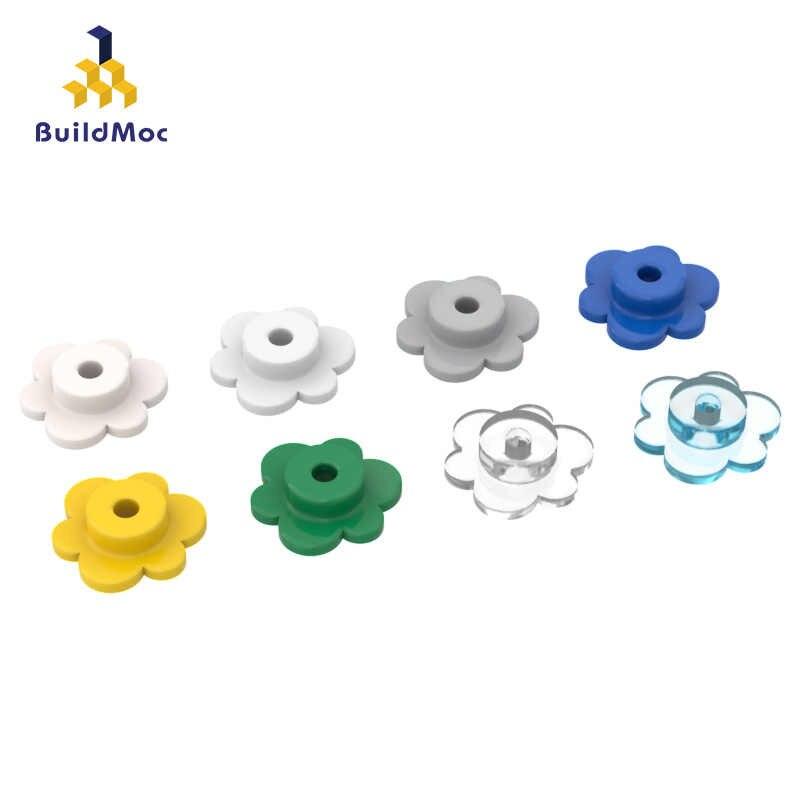 BuildMOC uyumlu lego 56750 çiçek taç yapı taşları parçaları DIY LOGO eğitim teknoloji parçaları oyuncaklar