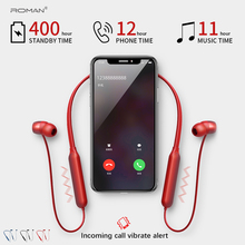 Roman Bluetooth Earphone Sport Wireless Headphones Support TF/SD Card Headset Music Headphone with Mic With packing