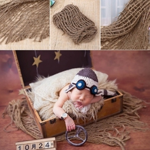 Backdrop-Blanket Photography-Prop Newborn-Baby Layer-Net Jute Chunky Hessian Burlap Lovley