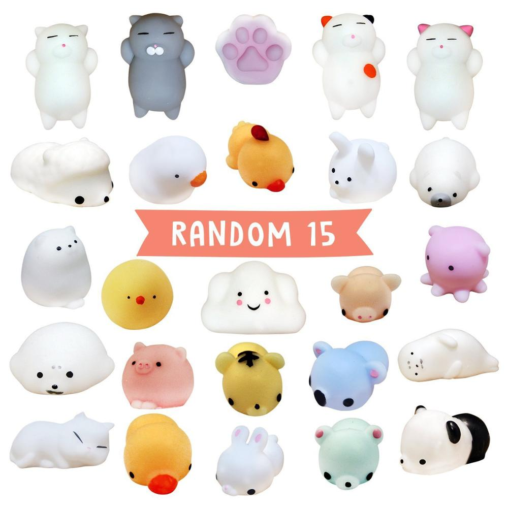 Mini Change Color Squishy Cute Animals Antistress Ball Squeeze Mochi Rising Abreact Soft Sticky Stress Relief Funny Gift Toy