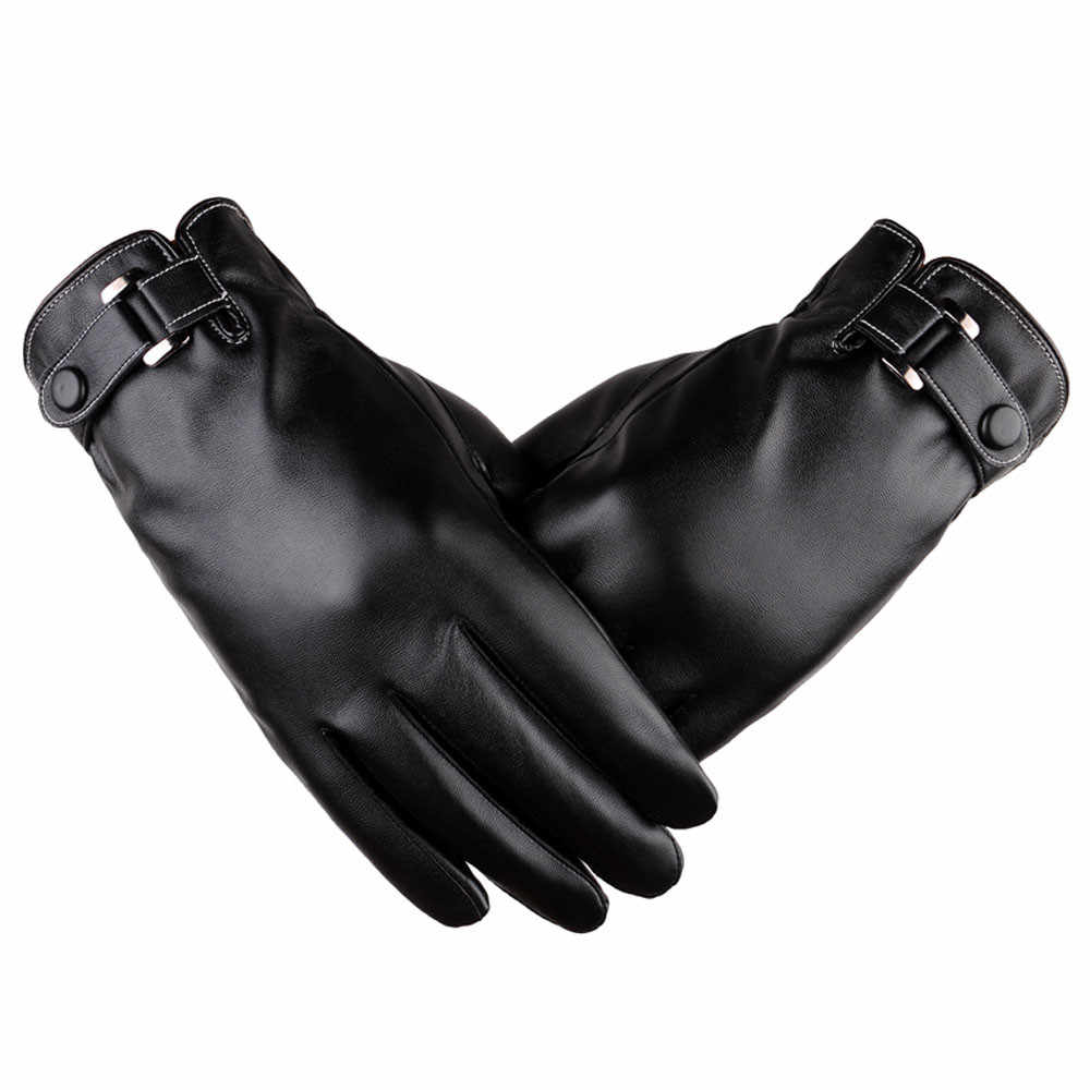 Men Thermal Winter Gloves Sports Leather Full Finger Waterproof Windproof Gloves Touchscreen Gloves Luvas Motociclismo Перчатки