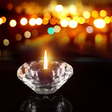 Прозрачный хрустальный стеклянный подсвечник чайный свет стоячий Подсвечник Свадебный декор