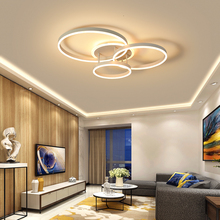 modern led chandelier lighting circle lights for living room bed Hardware+acrylic ceiling nordic lamp