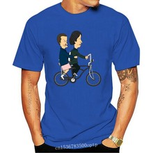 Beavis And Butthead As El And Mike Strangely Stupid Funny White T-Shirt Breathable Tee Shirt