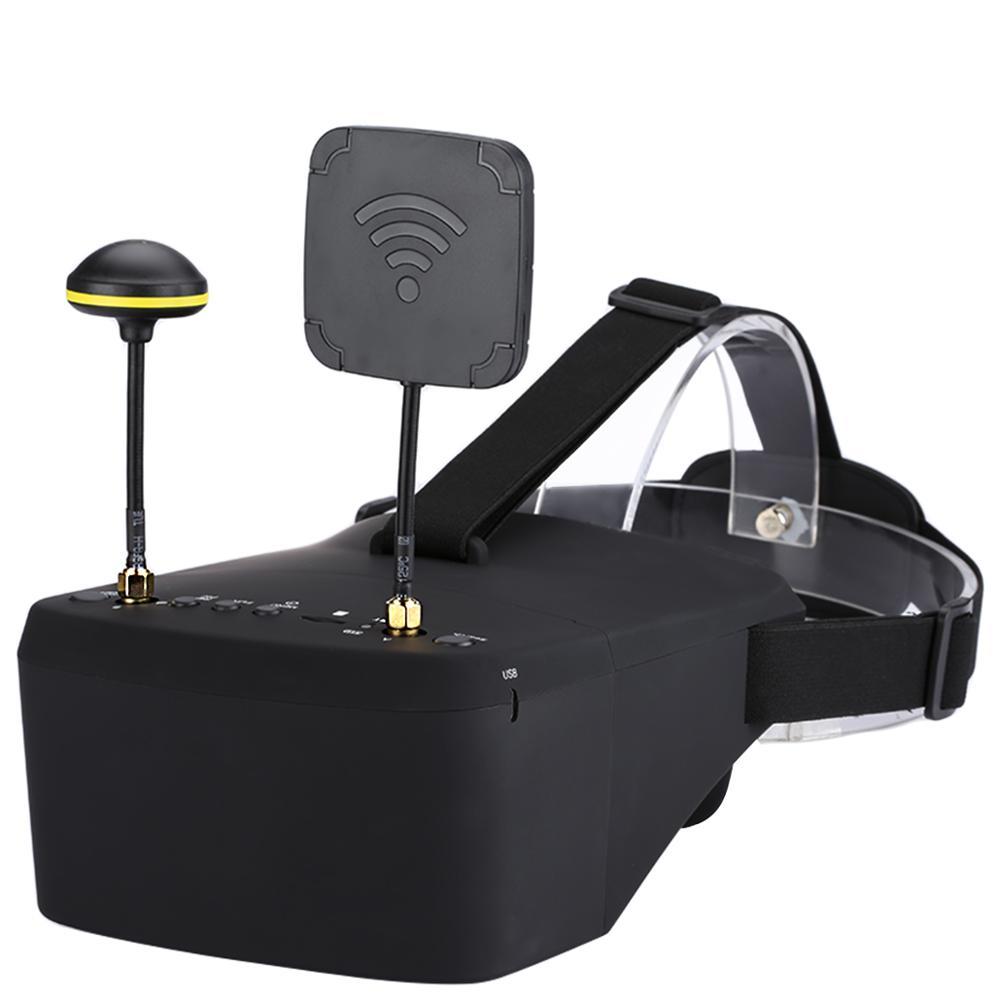 In Lager EV800D 5,8G 40CH 5 Zoll 800*480 Video Headset HD DVR Vielfalt FPV Brille Mit Batterie für RC Modell
