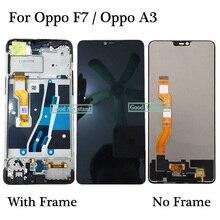Di alta Qualità da 6.23 pollici Nero Per Oppo F7/Per Oppo A3 Display LCD Touch Screen Digitizer Assembly di Ricambio Con telaio