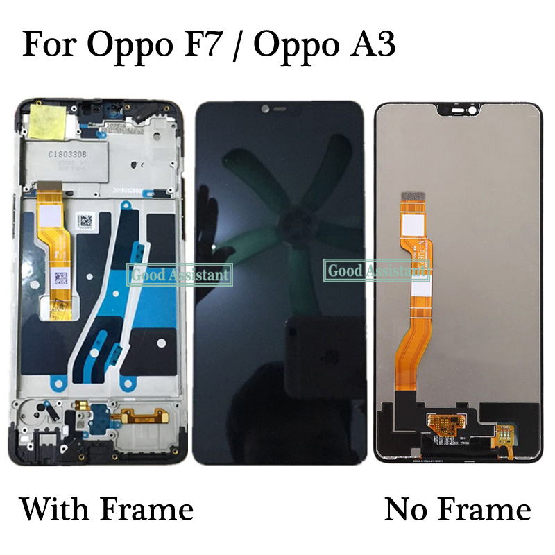 High Quality 6.23 inch Black For Oppo F7 / F7 Youth / Oppo A3 LCD  Display Touch Screen Digitizer Assembly Replacement With FrameMobile  Phone LCD Screens