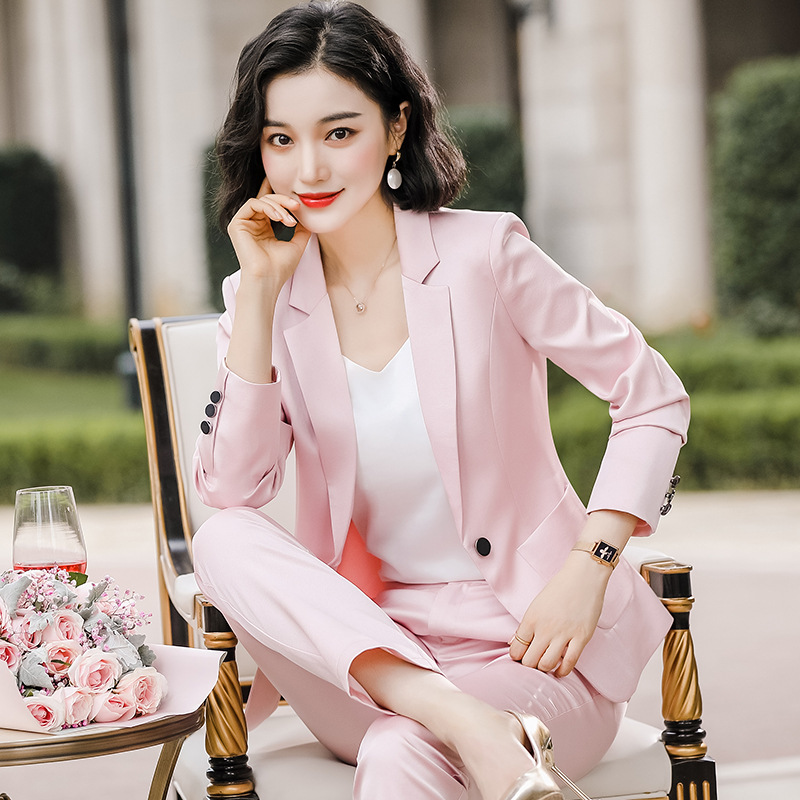 Professional Women's Pants Suit Feminine 2020 Spring And Autumn High Quality Ladies Blazer Fashion Trousers Interview Overalls