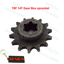 T8F 14 T Tooth Clutch Gear Box Front Pinion Sprocket for 47cc 49cc 2 Stroke ATV Quad Dirt Pocket Mini Motor Bike Crosser