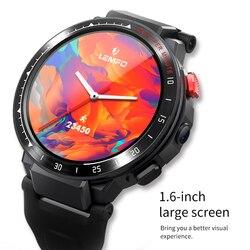LEMFO LES4 4G Smart Uhr 2020 Android 7,1 Smart Uhr Männer 1,6 zoll Großen Bildschirm 1G RAM 16G ROM Smartwatch mit Sim karte GPS
