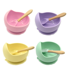 1 Set Baby Feeding Silicone Plates Baby Food