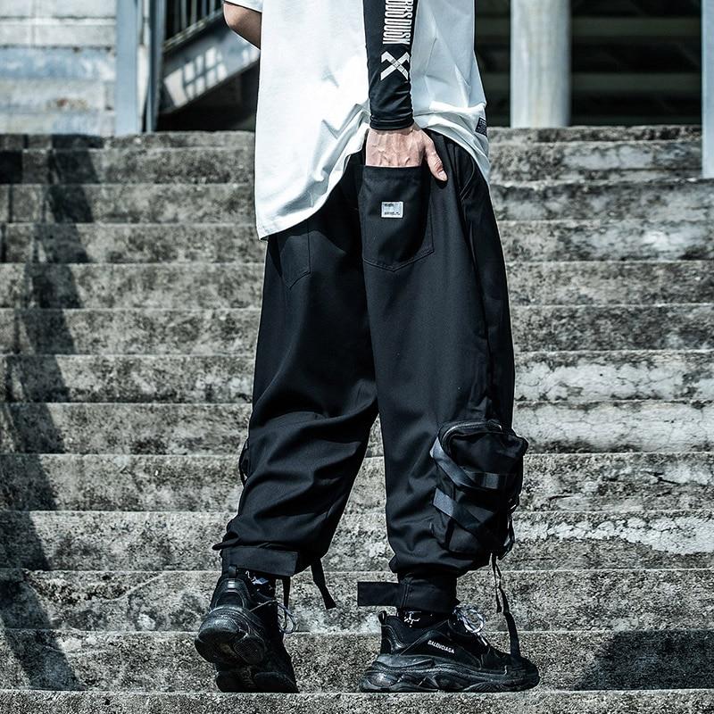 11 BYBB'S DARK Hip Hop Tactics Cargo Pants Men Harajuku Streetwear Joggers Pant Harem Loose Pocket Ribbon Trousers Male XN34