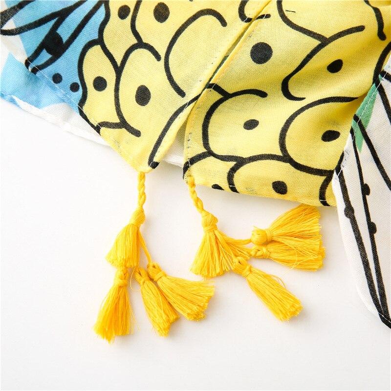 2020 Fashion Luxury Brand Pineapple Fruit Tassel Viscose Shawl Scarf Ladies Soft Head Wraps Pashmina Stole