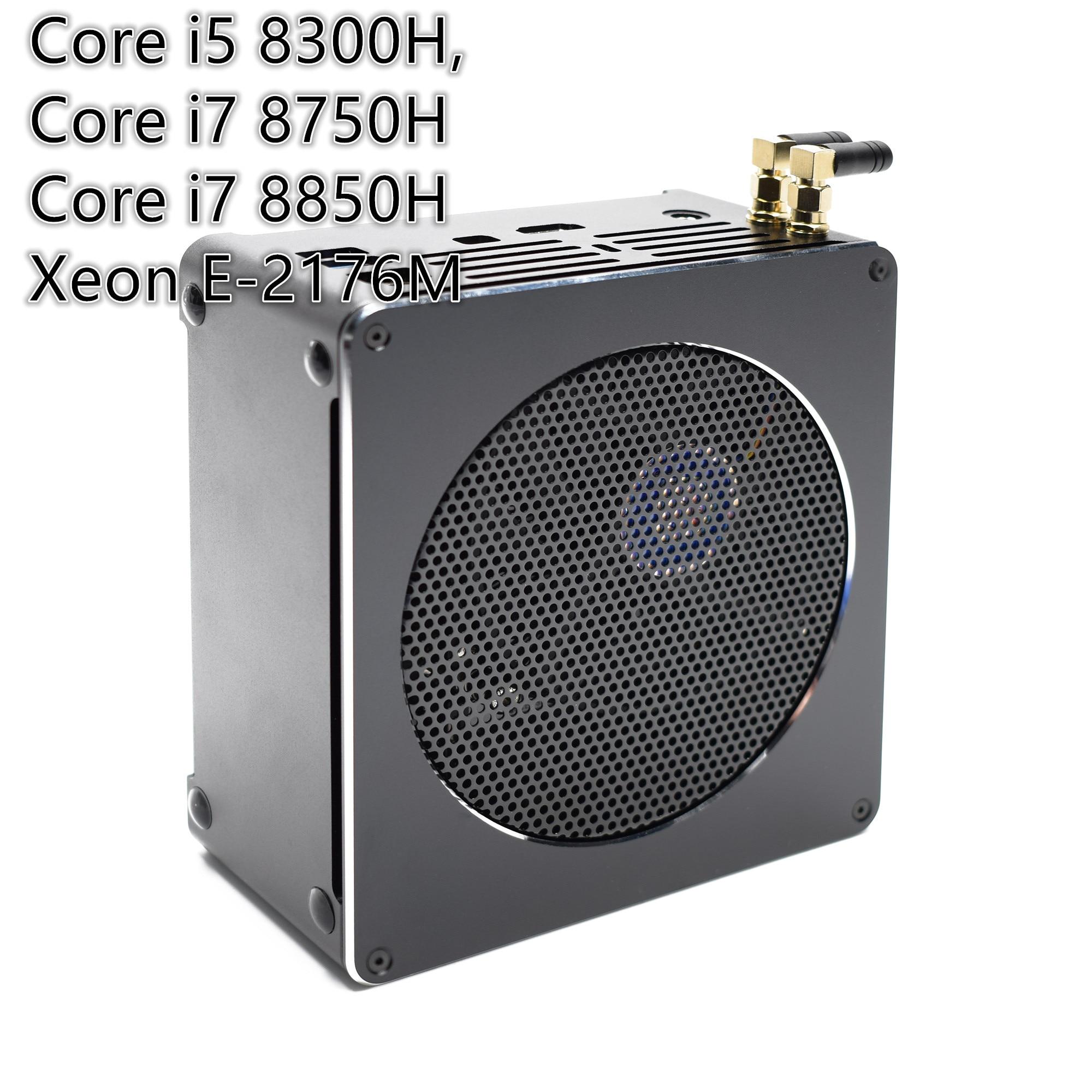 "Gaming Mini PC Mini-Computer Intel i7 8850H i5 8300H Windows 10 2 * DDR4 2 * M.2 SSD + 1*2.5 ""SATA Nuc Nettop 4K UHD HDMI DP WiFi"