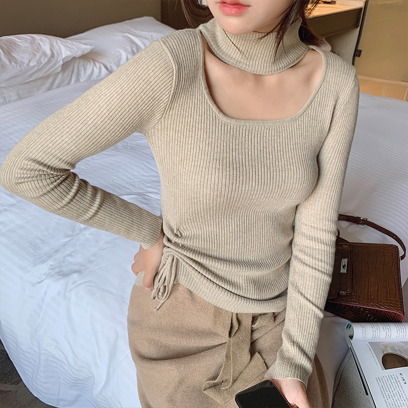 Mishow Autumn Basic Solid Slim Fit Knit Sweater Women Round Neck Long Sleeve Pullover Tops MX19D5453