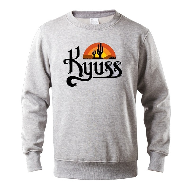 Autumn and winter hohoodies men Kyuss Black Widow Stoner Rock Queens hoodie sweatshirt cotton Long sleeve fleece streetwear