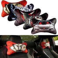 JDM Hellaflush style modified car headrest Car Neck Rest Headrest Cushion Pillow Auto Neck pillow for universal car