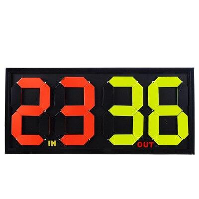 Футбол табло замены игроков большой Размеры ручной замены номерной знак двухсторонний Дисплей 4-разрядный-вдвое переменной с оцепенелый