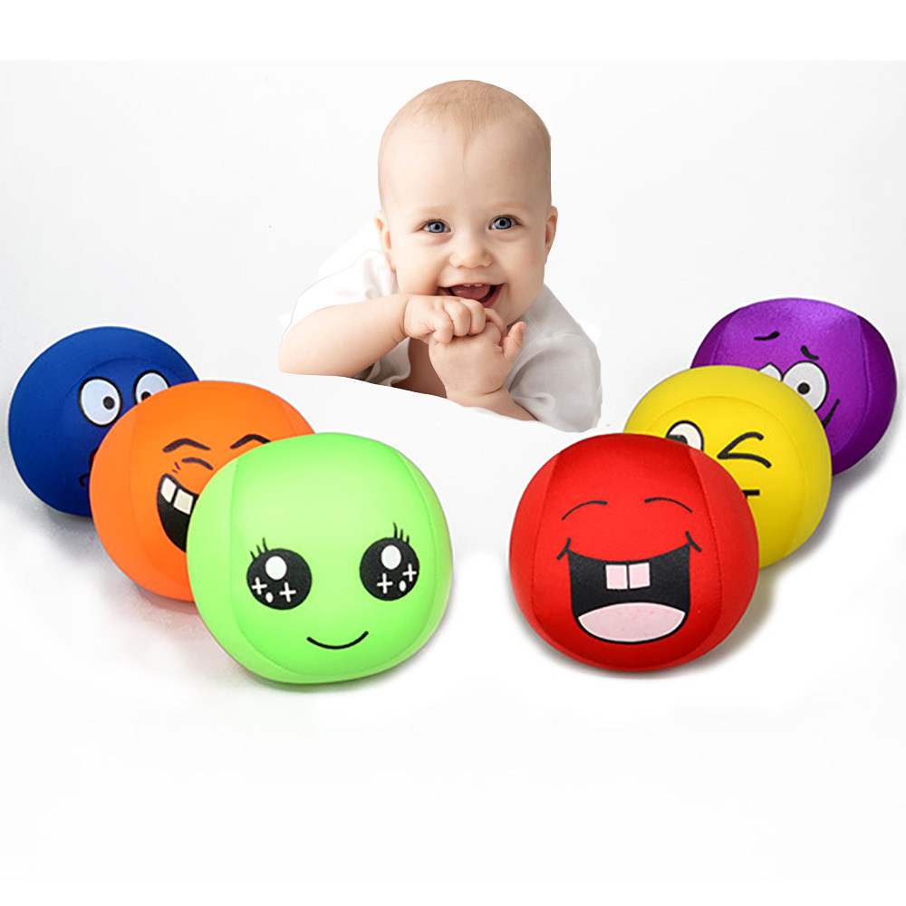 Smile All Kinds Hand Grip Pressure Reliever Anti Stress Ball Toys Fitness Hand Finger Trainer Rehabilitation Handball Toy L1227