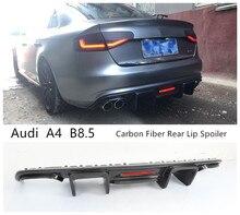 Высококачественный задний диффузор из углеродного волокна, спойлер для Audi A4 B8.5 2013 2014 2015 2016, аксессуары для автомобильного бампера с лампой