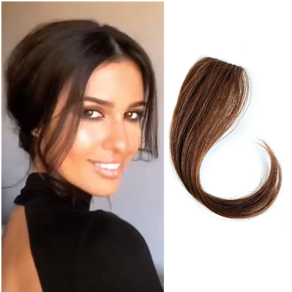 Braziliaanse Lange Clip In Op Front Haar Bang Side Fringe Hair Extension Real Natural Remy Human Haar Pony Haar Stuk clip In Pony