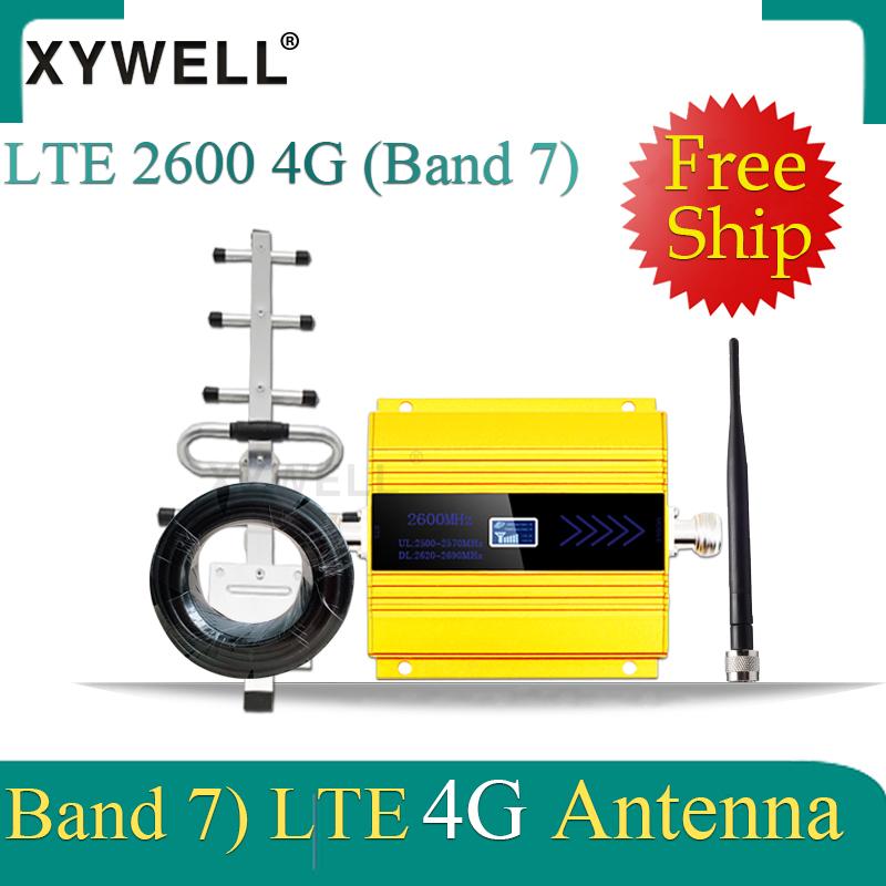 Big Sale!! FDD LTE 2600mhz 4G Cellular Amplifier 4G Band7 GSM Mobile Signal Booster 4G LTE 2600 Network Cellular Signal Repeater