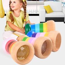 Деревянные детские пчелиный глаз эффект калейдоскоп многопризма наблюдения Обучающие игрушки-пазлы подарки