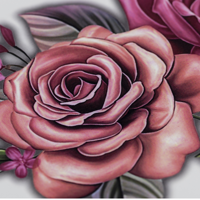 Beauty 1 piece make up Fake temporary tattoos stickers rose flowers arm shoulder tattoo waterproof women big flash tattoo on body