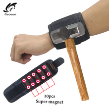 Wrist-Support Bracelet Pouch-Bag Wristband-Band-Tool Drill-Holder Screws Magnetic Holding
