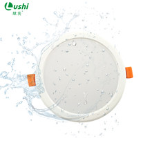 LED Plastic PC Recessed Downlight 6W 9W 12W 18W Warm White Cold White led Kitchen Living Room Indoor Recessed Ceiling Iighting