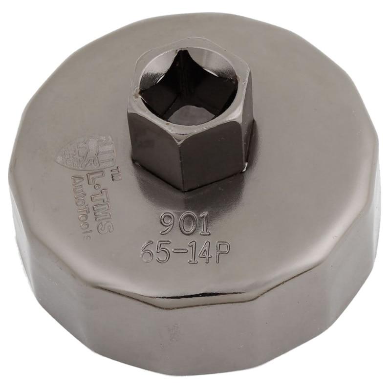 Aletler'ten İngiliz an.'de Kap yağ filtresi lokma anahtar bardak aracı 65mm ID 14 flüt title=