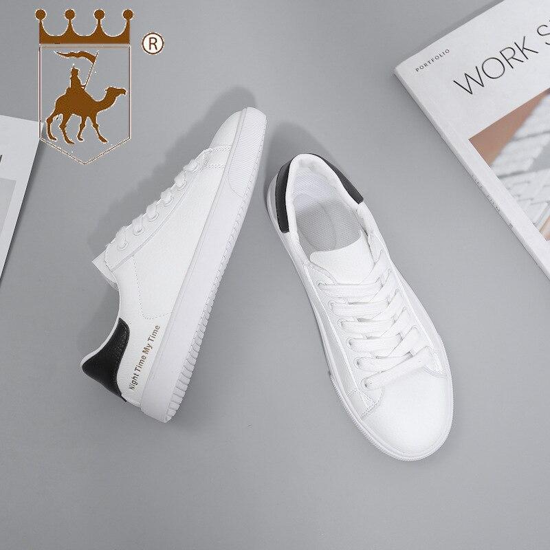 BACKCAMELSmall Weiß Schuhe Weibliche 2019 Frühling Neue Mikrofaser Leder Gürtel mit Niedrigen Gummi Boden Rutsch Tragen ResistanceSIZE37 40