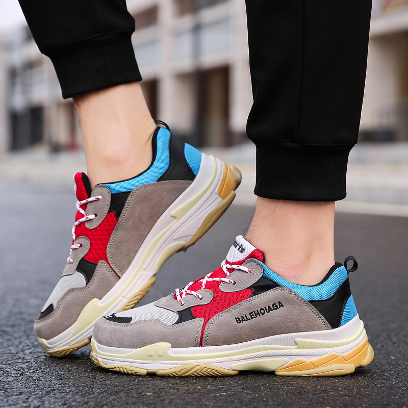 2020 New Spring And Autumn Youth Fashion Trend Shoes Men Casual Hot Sell Sneakers Men New Colorful Dad Shoes Male Tenis