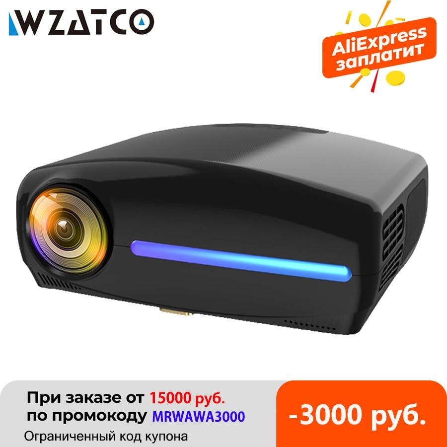 WZATCO C2 1920*1080P Full HD светодиодный проектор с 4D цифровой Keystone 6800 люмен Домашний Театр портативный видеопроектор светодиодный прожектор