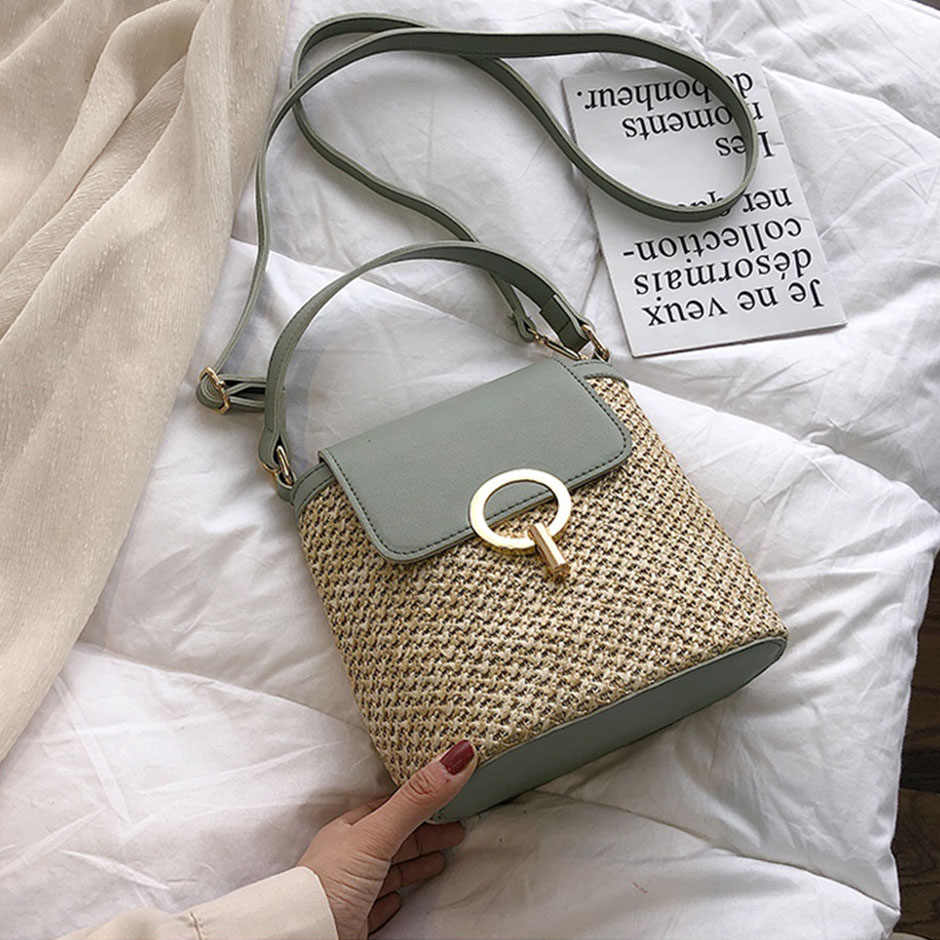 NEW Small Straw Bucket Bags For Women 2020 Summer Crossbody Bags ...