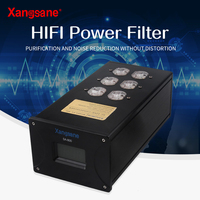 Xangsane US gold plated/rhodium plated power filter high power power purifier HiFi amplifier audio row socket Power outlet