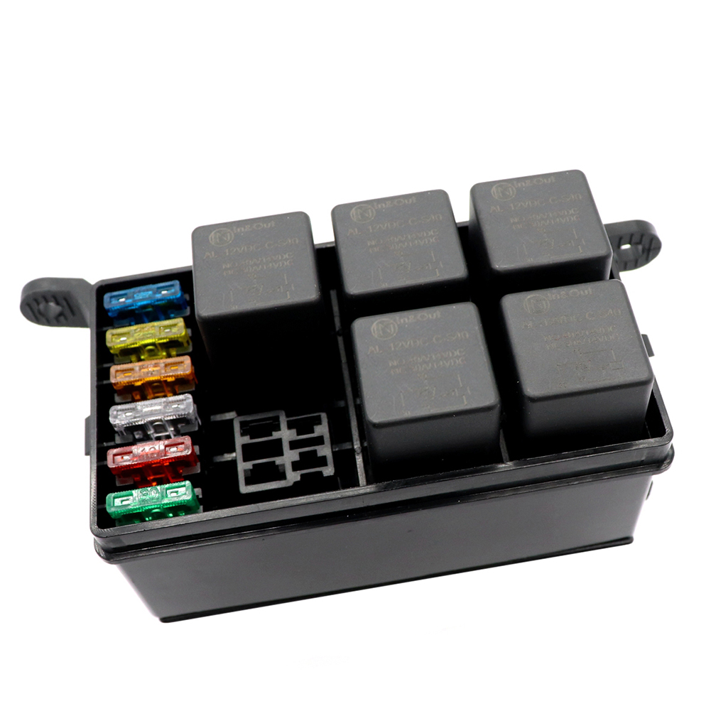 6-Way Car Auto 12V Fuse Box Relay Holder Spade Terminals Accessory Sweet  Relays General Purpose Relays | Relay Holder Fuse Box Terminals |  | Universidad Magister