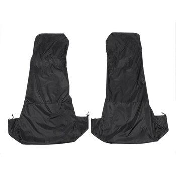 2x uniwersalny wodoodporny Nylon przedni samochód dostawczy pokrowce na siedzenia ochraniacze czarna para