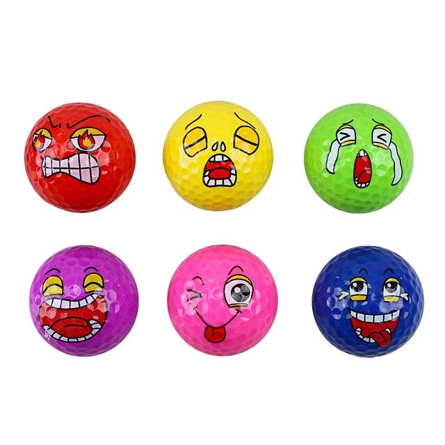 CRESTGOLF Golf Training Ball-Children's Birthday Gift-Anger Cold Cry Laugh Spit Happy the Newest Golf Balls Golf Accessories 4