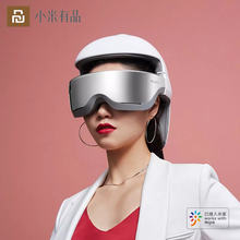 Умный bluetooth массажный шлем для головы глаз и шеи 3 в 1 3d