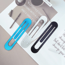 Metal Ruler Bookmark Measuring-Tool Metric Stainless-Steel Precision Double-Sided H0079