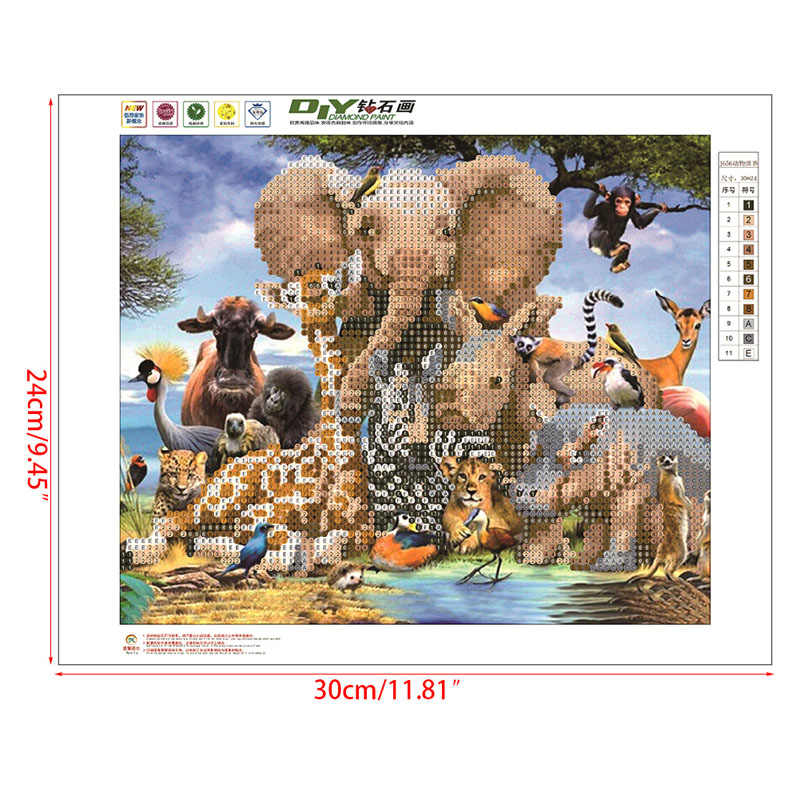 Zoo Elephant Animale 5D Diamante Pittura Del Ricamo A Punto Croce Decorazione Della Parete di Casa Y1QB