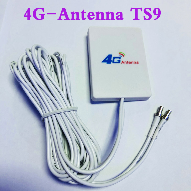 3G 4G External Antennas For E5573 E5372 E5776 E5377 E5577 E8372 E5878 E398 E 28dbi TS9  4G LTE Router Antenna With 3m Cable